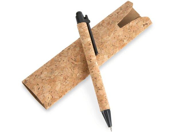 Bolígrafo con funda de corcho natural barato