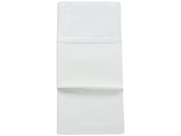 Porta tarjetas triple personalizado blanco