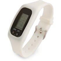 Reloj control de ejercicio físico personalizado blanco