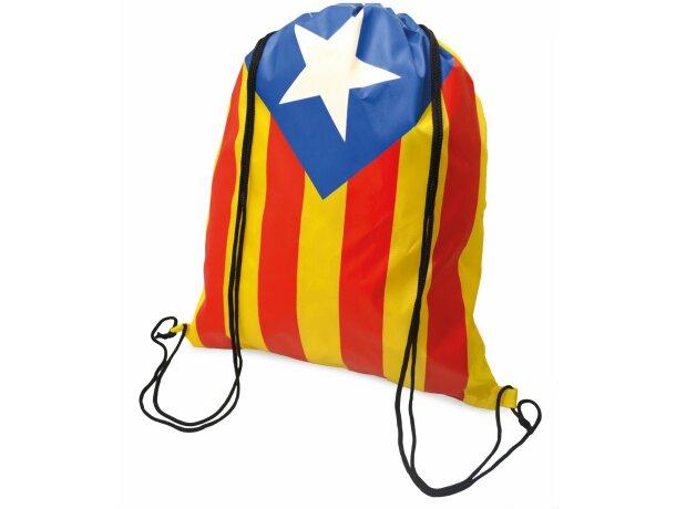 Mochila con cuerdas con bandera independentista catalana