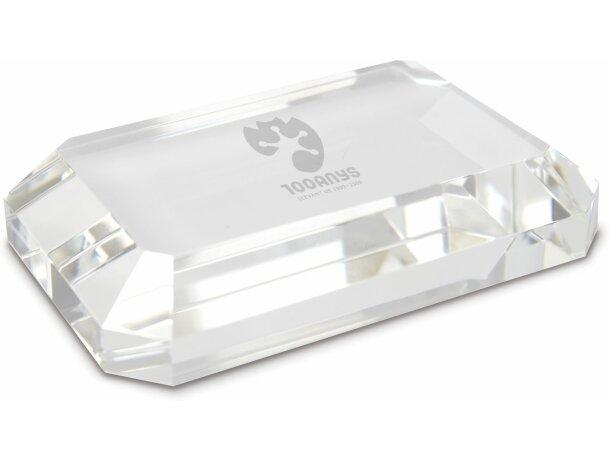Pisa papales de cristal biselado personalizado
