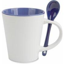 Mug Cerámica Cuchara azul personalizada