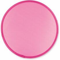 Frisbee de poliéster de colores personalizado fucsia