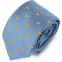 Corbata con diseño de mastil de España personalizada