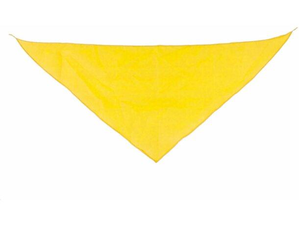 Pañoleta triangular personalizada amarilla