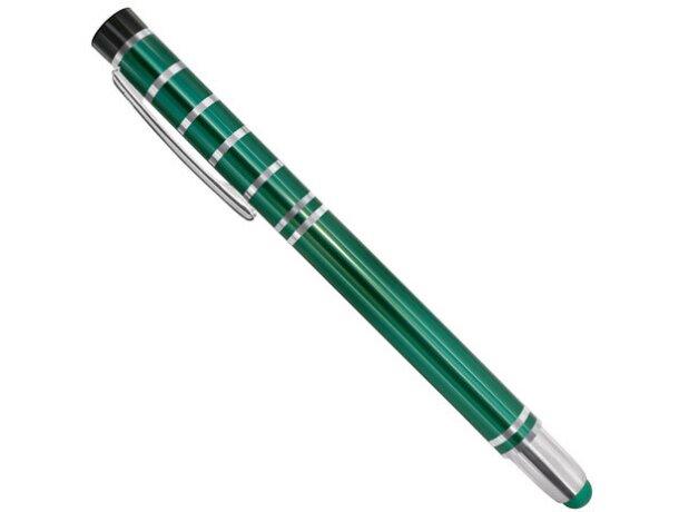 Bolígrafo de metal con lápiz táctil pierre deline verde