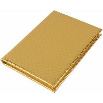 Bloc de njotas con tapas metálizadas personalizado oro