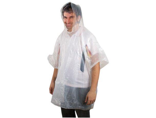 Poncho de lluvia plegado blanco