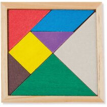 Puzzle de madera en colores