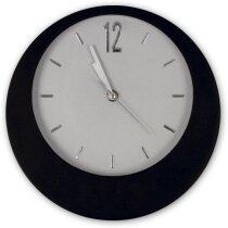 Reloj personalizado de pared redondo para personalizar en base personalizado negro