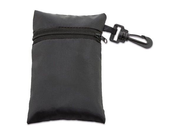 Bolsa plegable con cremallera y funda personalizada negro