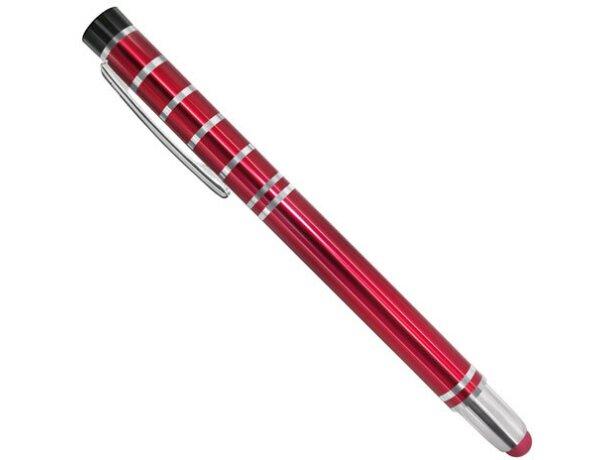 Bolígrafo de metal con lápiz táctil pierre deline rojo