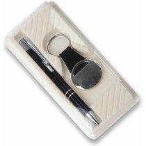 Estuche para bolígrafo y llavero personalizado crudo