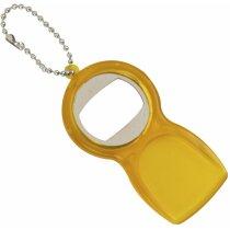 Llavero Abridor con rasca hielos personalizado amarillo