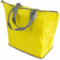 Bolsa termo plegable con asas personalizada amarilla