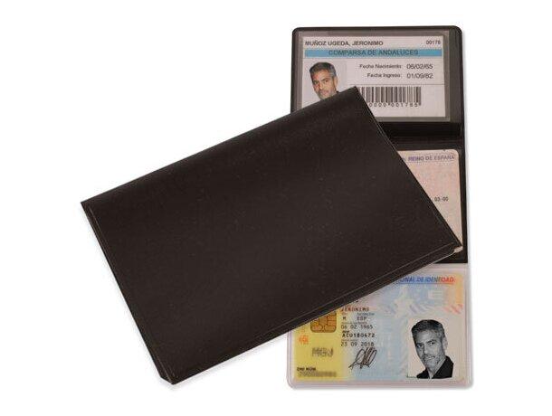 Porta tarjetas triple plata