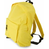 Mochila con bolsillo exterior pequeño amarilla
