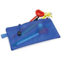Bolsa pequeña de pvc con cremallera azul