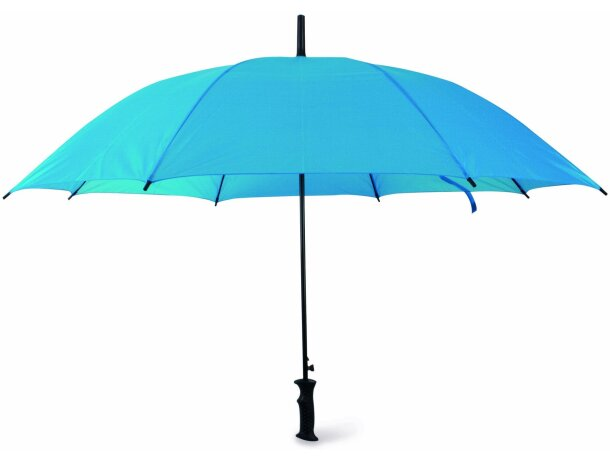 Paraguas con mango de plástico apertura automática personalizado azul