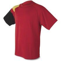 Camiseta técnica colores bandera roja