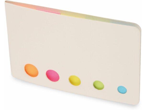 Estuche con marcadores de colores personalizado blanco
