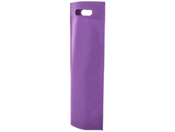 Bolsa de non woven para botella lila