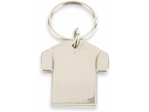 Llavero con forma de camiseta metálico