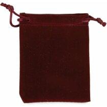 Bolsa de antelina para regalo burdeos