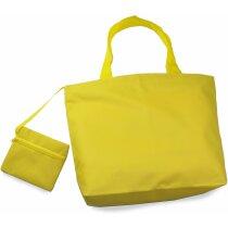 Bolsa de playa de nylon amarilla