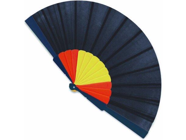 Abanico con varillas de bandera de España personalizado azul marino