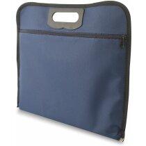 Portafolios básico de non woven laminado personalizado azul