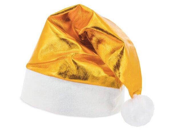 Gorro de navidad metalizado oro