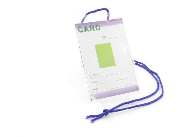 Identificador transparente con cordón barato