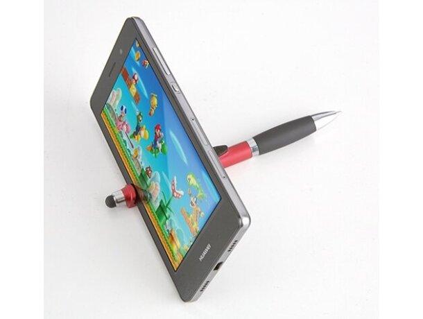 Bolígrafo con varias funciones y soporte móvil