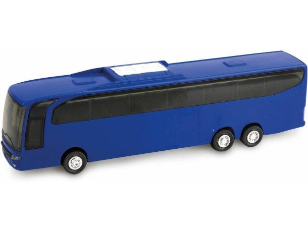Autobús de juguete personalizado azul