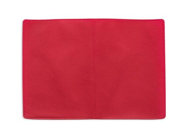 Tarjetero doble con dos bolsillos rojo