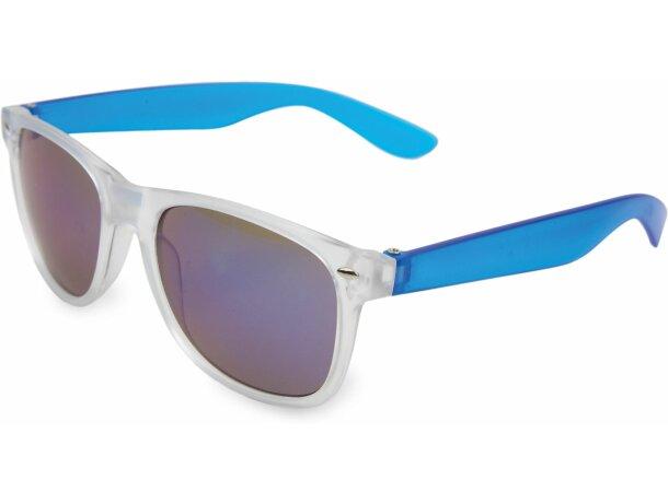 Gafas de sol de plástico personalizada azul