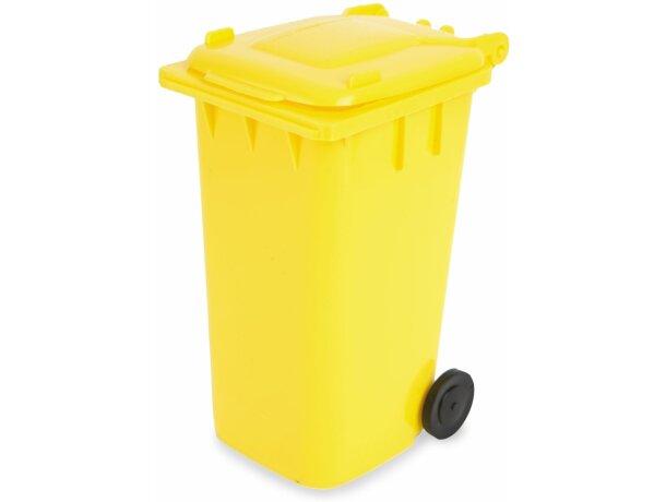 Lapicero contenedor amarillo amarillo grabado