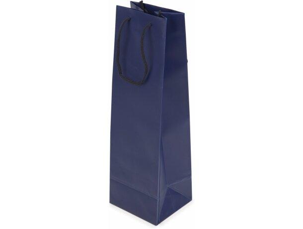 Bolsa de regalo de PVC para 1 botella azul