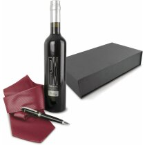 Estuche de vino con botella de Pedro Ximenez de 500 ml personalizado