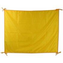 Bandera fiesta poliéster amarilla