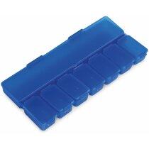 Pastillero semanal con 8 secciones personalizado azul