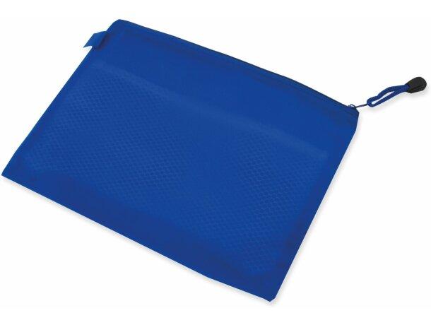 Bolsa de pvc con separador interior azul