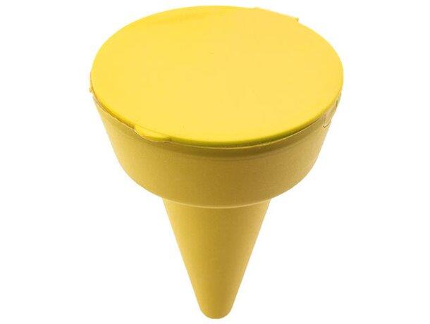 Colillero para la playa personalizada amarilla