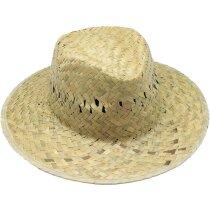 Sombrero de paja color verdoso personalizado