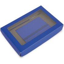 Set de bolígrafo y cuaderno personalizado azul