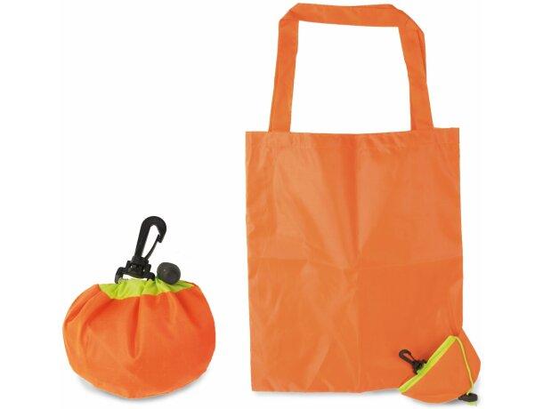 Bolsa plegable con forma de naranja personalizada