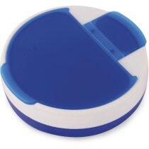 Pastillero de plástico combinado en colroes personalizado azul