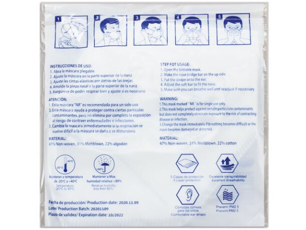 Mascarilla ultra proteccion de colroes ffp2
