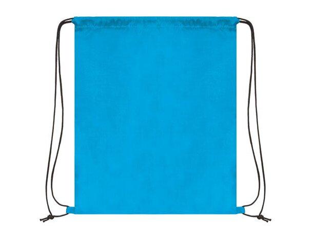 Bolsa mochila con cordones económica economica azul